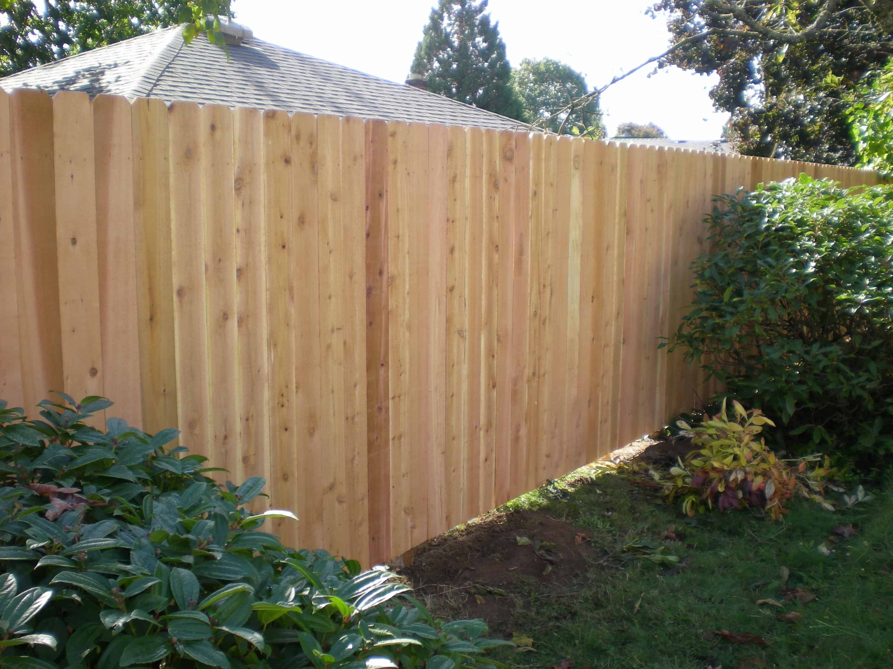 wood fence panels dog ear