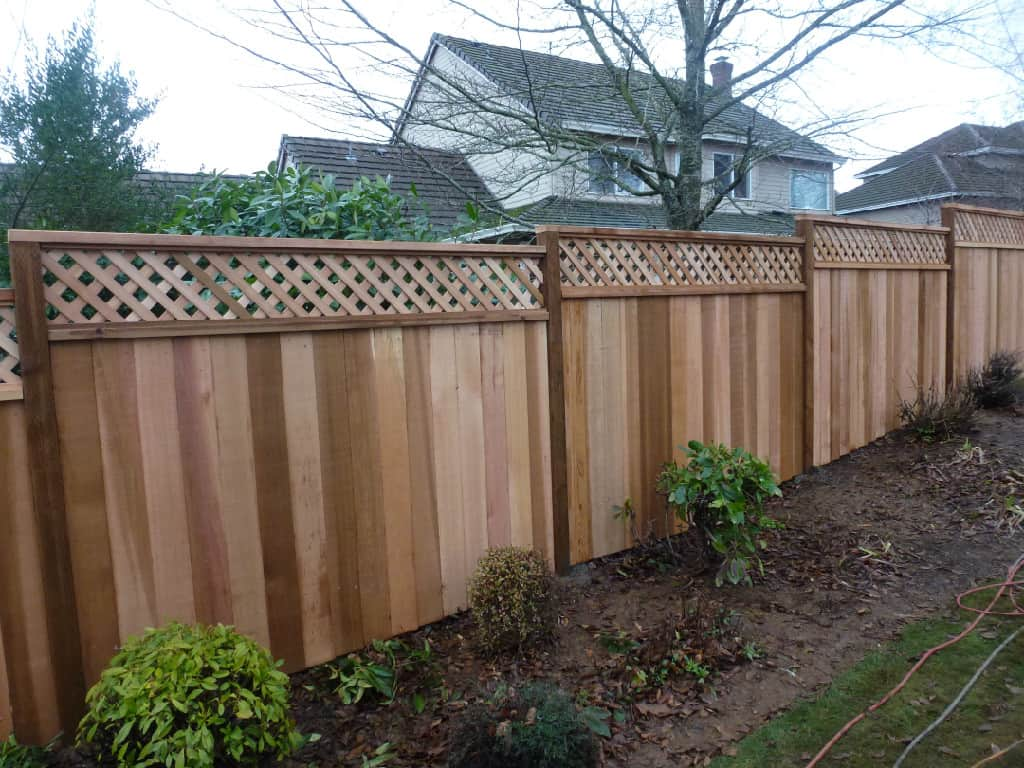 lattice fence cedar fence